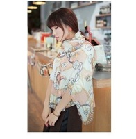(10 pieces/lot) Free shipping 2014 fashion styles women's scarf girls cute scarves lady's soft silk scarf