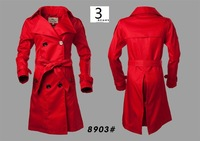 Free Shipping 2013 Women's Fashion Brand x- long Double Breated Spring / Autumn Coat Elegant / designer Long Top # 8903