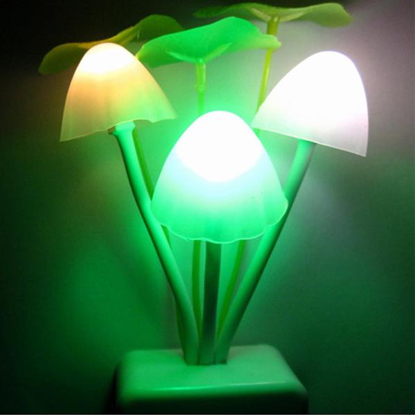 1PCS Home Bed Room Decoration LED Mushroom Night Light Lamp Color Change EU Plug Gift(China (Mainland))