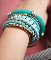 Wholesale 2014 New Fashion bohemian ocean refreshing blue multilayer beads Bracelets& Bangles for couple Charm Bracelet  MD1177