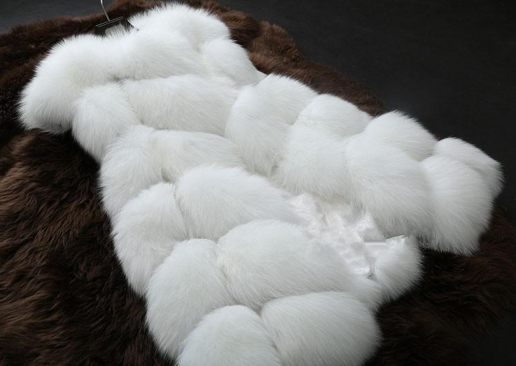 New 2014 Winter Coat Women Fashion Import Overcoat Faux Fox Fur Vest High-Grade Cappa Fur Coat Leisure Shitsuke Women Coat(China (Mainland))