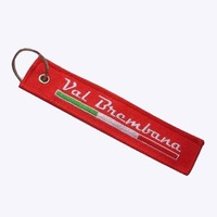 2014 fashion Embroidery key tag, customized logos are accepted,MOQ100, free shipping
