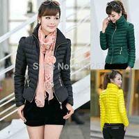 2014 Inverno Casaco Feminino Ladies Down Short Design Winter Cotton Coat Women Slim Office Ladies Zippers Jacket Plus Size XXXL