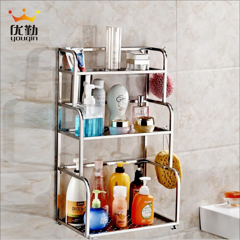Excellent handling sanitary 304 stainless steel bathroom shelving racks bathroom toilet storage shelf 3540(China (Mainland))