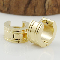 New Design Stainless Steel Men Clip Earring Round Punk Rock Polishing Jewellery 2014 Fashion Free Shipping