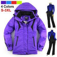 2014 Fashion Skiing jackets women Outdoor Women's Outdoor Jacket Female Plus Size Ski Coat Free Shipping 128