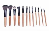 Leopard Bag With Professional 12 pcs Makeup Brush Cosmetic Set tools Make-up Kit Wool Brand Make Up Brush Set Case SV18 SV009328