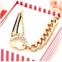 Wholesale 2014 New Korean Fashion CCB exquisite chain crystal rhinestone Bracelets& Bangles for couple Charm Bracelet  MD1178