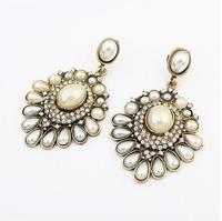 cxt9012 Brand Gift Vintage  Weddings Drop Earrings Long Women 2014 Fashion Vintage Pearl Rhinestone