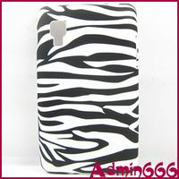 For LG Optimus L4 II E440 New Black Floral Zebra Design/Black Zebra Stripe TPU GEL Soft Case For LG Optimus L4 II E440 E445 Case