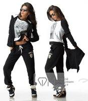 Fashion Suit 2014 New Winter tops+pants+vest Warm Suits Women Sport Suit Sportswear Tripleset Sweatshirt Set Women Hoodies