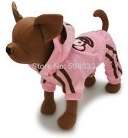 Hot models!Large big dog fleece coat four legged golden retriever winter clothes monkey patch pink brown