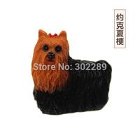 zakka resin mini pet yorkshire terrier dog garden pots ornaments