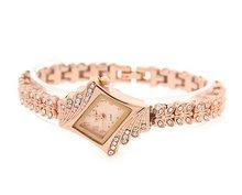 New Fashion Luxury Diamond Rhinestone Waterproof Watches For Women Quartz Brand Ladies Elegant Wrist Watch Free