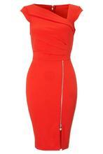 vestidos femininos 2015 Summer fashion night club wear Red Pleated Shift Double-Layer Short sleeves Bodycon briefDresses LC21667(China (Mainland))