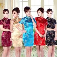 women Chinese cheongsam Qipao summer dress party sexy evening dresses chi-pao