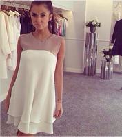 2014 New Fashion Women dress Sleeveless vestidos Plus Size party dresses S-XL