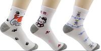 (10 pairs/lot) Free shipping girls character socks women soft sports sock female cute cotton socks