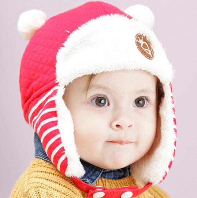 5pcs/lot winter kids earflap hat fleece kids snow hat boys warm headgear free shipping(China (Mainland))