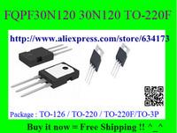 Free Shipping FQPF30N120 30N120 TO-220F 10pcs/lot
