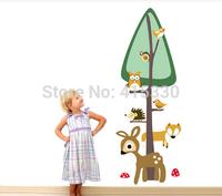 new Europe combined wall stickers manufacturers of children room height measurement ruler owl deer
