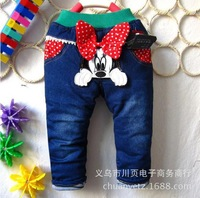 Thickening of han edition jeans in the winter of super soft cotton pants girl free shipping.34