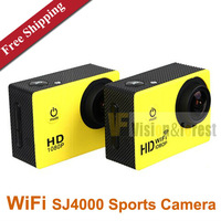 Original WiFi Version SJ4000 Action Camera Diving 30M Waterproof Sport Camera 1080P HD Car DVRs Sport Camera  Free Shipping