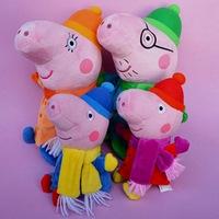 Peppa pig peppa Christmas Edition family suite Pepe Pig Plush Toy Doll