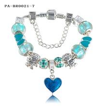 LZESHINE Brand Charm Bracelet Personalized European Popular Silver Bead Charm Enamel Love Bracelet Jewelry PA-BR0021-7