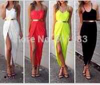 hot sale vestido renda colourful Europe sleeveless women's Dress sexy dress Slim waist was hip/smock dress/Sling dress