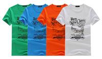 Summer new men's short-sleeved cotton round neck short sleeve T-shirt fashion men's T-shirt printing T shirt