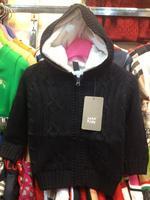2014  New  Retail   Brand   fashion  spring/autumn/winter  children's  coat  zipper  long  sleeve  hooded  girl's  sweater  coat