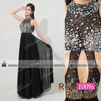 XU025black chiffon black formal evening gowns crystal long evening dresses women 2014 vestido de festa longo com renda plus size