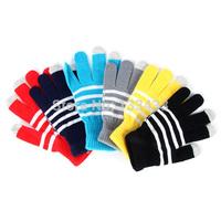 Free ShippingFull Finger Glove Stretch Magic Knitted Men Women Winter Touch Screen Mitten
