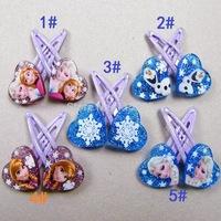 5pairs/lot 10pcs Frozen Anna Elsa Olaf kids hair clips Hairpins Hair Clip headwear baby children gift hairband girl accessories