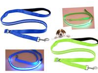 New 120cm Fashion Christmas Party  LED Flashing Light Nylon Pet Dog Leash Blue- Size L  Pet Products Pet Dog Cat  leads Collars