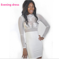 2014 New Elegant Women Dress Slim Fit Sexy bandage Dress S M L