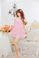 [SNY-0703]lingerie Pink nightgown super elastic gauze perspective a wholesale undertakes big yards pajamas sexy underwear