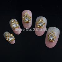 30pcs/lot 3D Golden Crowm Charm Decorations Glitter Alloy Metal Jewelry Bling Rhinestones for Nail Art DIY Tips Tools Manicure