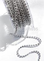 1Row x 10yards bling diamond wrap ,free shipping sparkle rhinestone ribbon chain for wedding decoration