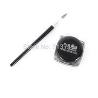2pcs Free&Drop shippingBlack Beauty Set Cosmetic Waterproof Eye Liner Eyeliner Shadow Gel Makeup + Brush