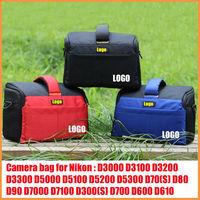 Camera Case Bag for Nikon D3000 D3100 D3200 D3300 D5000 D5100 D5200 D5300 D70(S) D80 D7000 D7100 D300(S) D700 D600 D610 D800(E)