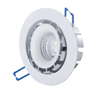 Free shipping high rci ra>82 super warm 2700K dimmable cob led square downlight
