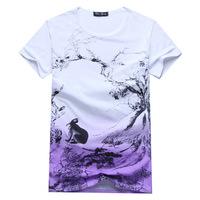 New men's short sleeve T shirt wholesale manufacturers supply wholesale men's cotton round neck T shirt printing