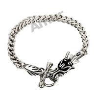 Amur Men Jewelry Link Novelty Bracelets Dragon Chain 316L Stainless Steel Punk Bangle pulseiras