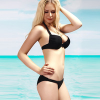 DYYY-0195 Sexy Top + Bottom solid 2 pieces Straps Sequined biquini Push Up Swimwear Swimsuit Europe size bathing suit low price
