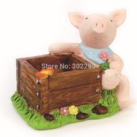 new design resin crafts lovely animal flower pots