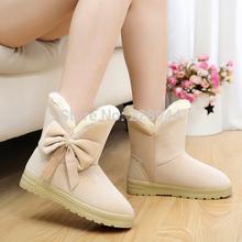 envío gratis 2014 botas de otoño zapatos planos tubo corto nieve invierno botas zapatos de las mujeres talla 5-9(China (Mainland))
