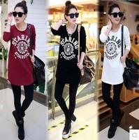 Brand New Autumn Women Shirt Loose Plus Size Slim Long Shirt Free Shipping c1319