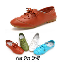2014 Autumn Calf Skin Shoes Princess Lacing Rubber Oxfords For Women's Flat Shoes Genuine Leather Four Seasons Women Sneakers